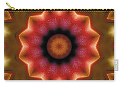 Carry-all Pouch featuring the digital art Mandala 103 by Terry Reynoldson