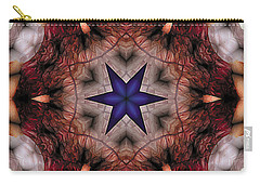 Carry-all Pouch featuring the digital art Mandala 14 by Terry Reynoldson