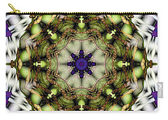 Carry-all Pouch featuring the digital art Mandala 21 by Terry Reynoldson