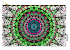Carry-all Pouch featuring the digital art Mandala 26 by Terry Reynoldson