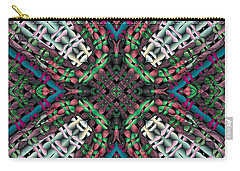 Carry-all Pouch featuring the digital art Mandala 32 by Terry Reynoldson