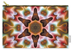 Carry-all Pouch featuring the digital art Mandala 68 by Terry Reynoldson