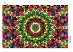 Carry-all Pouch featuring the digital art Mandala 70 by Terry Reynoldson