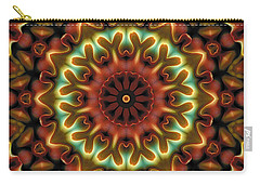 Carry-all Pouch featuring the digital art Mandala 71 by Terry Reynoldson
