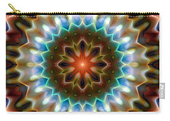 Carry-all Pouch featuring the digital art Mandala 79 by Terry Reynoldson