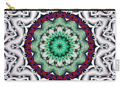 Carry-all Pouch featuring the digital art Mandala 8 by Terry Reynoldson