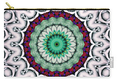 Carry-all Pouch featuring the digital art Mandala 9 by Terry Reynoldson