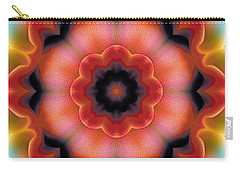 Carry-all Pouch featuring the digital art Mandala 91 by Terry Reynoldson