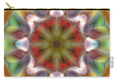 Carry-all Pouch featuring the digital art Mandala 97 by Terry Reynoldson