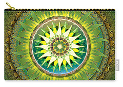 Mandala Green Carry-all Pouch