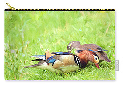 Mandarin Duck Couple Carry-all Pouch