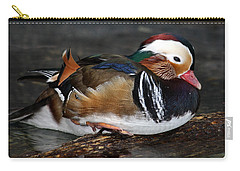 Mandarin Duck Carry-all Pouch by Suzanne Stout