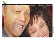 Carry-all Pouch featuring the painting Mandela And Whitney by Vannetta Ferguson