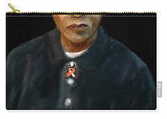 Carry-all Pouch featuring the digital art Mandela by Vannetta Ferguson