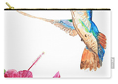 Mango Hummingbird Carry-all Pouch by Patricia Beebe