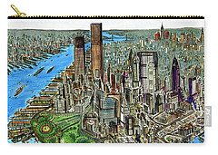 New York Downtown Manhattan 1972 Carry-all Pouch