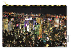 Carry-all Pouch featuring the photograph Manhattan Skyline Empire State Wobbles by Andy Prendy