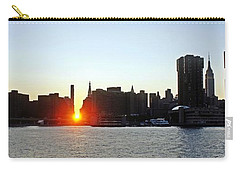 Carry-all Pouch featuring the photograph Manhattanhenge 2011 by Lilliana Mendez