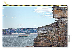 Carry-all Pouch featuring the photograph Manly Ferry Passing By  by Miroslava Jurcik