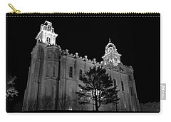 Manti Temple Black And White Carry-all Pouch