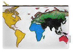 Map Digital Art World Carry-all Pouch