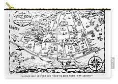 Map Of Fort Ord Army Base Monterey California Circa 1950 Carry-all Pouch