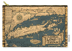 Map Of Long Island Carry-all Pouch