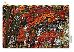 Carry-all Pouch featuring the photograph Maple Glory In Paradise by Michele Myers
