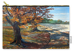 Carry-all Pouch featuring the painting Maple Lane by Lee Piper