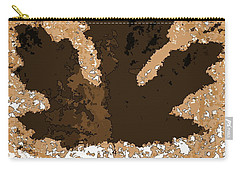 Maple Leaf Brown  Hues Carry-all Pouch by R Muirhead Art