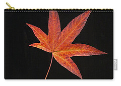 Maple Leaf On Black 2 Carry-all Pouch