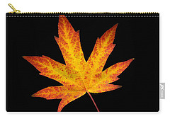 Maple Leaf On Black Carry-all Pouch