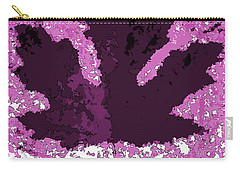 Maple Leaf Purple Pop Poster Hues  Carry-all Pouch by R Muirhead Art