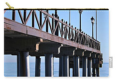 Carry-all Pouch featuring the photograph Marbella Pier Spain by Clare Bevan