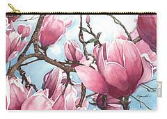 Carry-all Pouch featuring the painting March Magnolia by Barbara Jewell