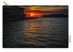 Carry-all Pouch featuring the photograph Marco Island Sunset 43 by Mark Myhaver