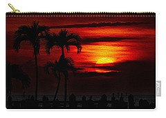 Marco Island Sunset 59 Carry-all Pouch by Mark Myhaver