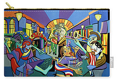 Carry-all Pouch featuring the painting Mardi Gras Lets Get The Party Started by Anthony Falbo