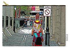 Mardi Gras In French Quarter Carry-all Pouch by Luana K Perez