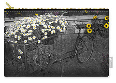 Marguerites And Bicycle Carry-all Pouch