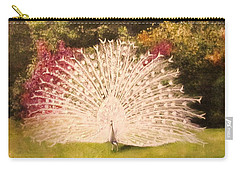 Maria's White Peacock Carry-all Pouch