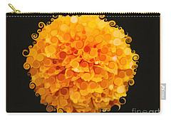 Marigold Magic Abstract Flower Art Carry-all Pouch