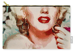 Marilyn Monroe In Red Dress Carry-all Pouch