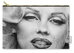 Carry-all Pouch featuring the painting Marilyn Monroe - Close Up by Jani Freimann