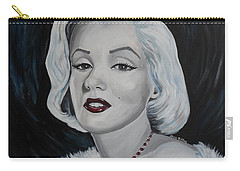Carry-all Pouch featuring the painting Marilyn Monroe by Julie Brugh Riffey