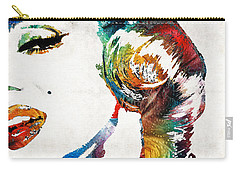 Carry-all Pouch featuring the painting Marilyn Monroe Painting - Bombshell - By Sharon Cummings by Sharon Cummings