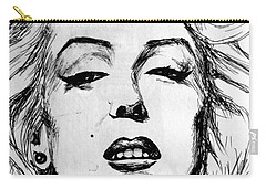 Carry-all Pouch featuring the painting Marilyn Monroe by Salman Ravish