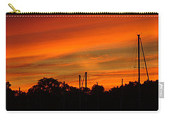 Carry-all Pouch featuring the photograph Marina Sunset by Deena Stoddard