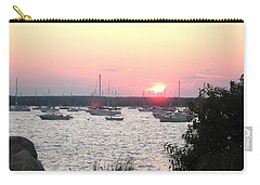 Carry-all Pouch featuring the photograph Marion Massachusetts Bay by Kathy Barney