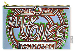 Mark Jones Velo Art Painting Blue Carry-all Pouch